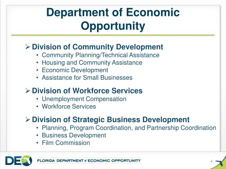 Department of Economic Opportunity