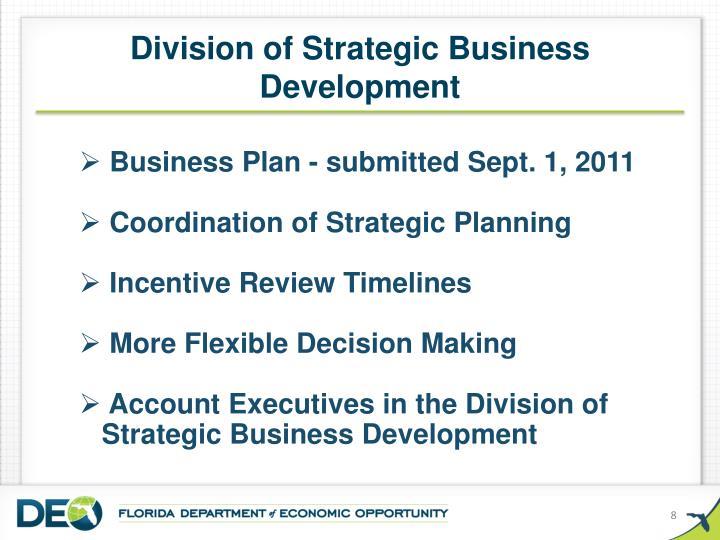 Division of Strategic Business Development