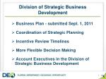 division of strategic business development