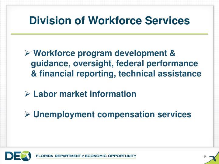 Division of Workforce