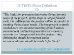 initiate phase definition