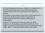 schedule management work breakdown structure