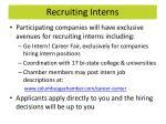 recruiting interns