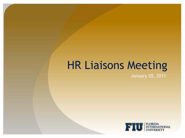 hr liaisons meeting n.