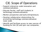 cie scope of operations
