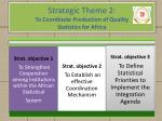 strategic theme 2 to coordinate production of quality statistics for africa