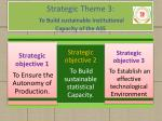 strategic theme 3 to build sustainable institutional capacity of the ass