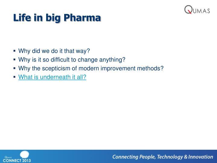 Life in big Pharma