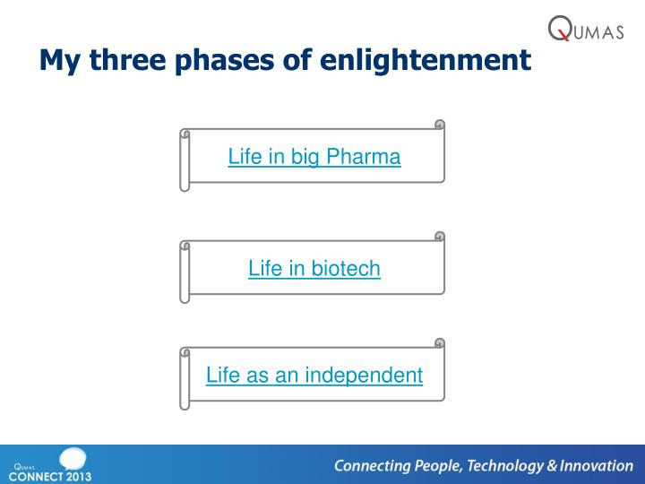 My three phases of enlightenment
