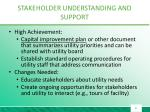 stakeholder understanding and support2