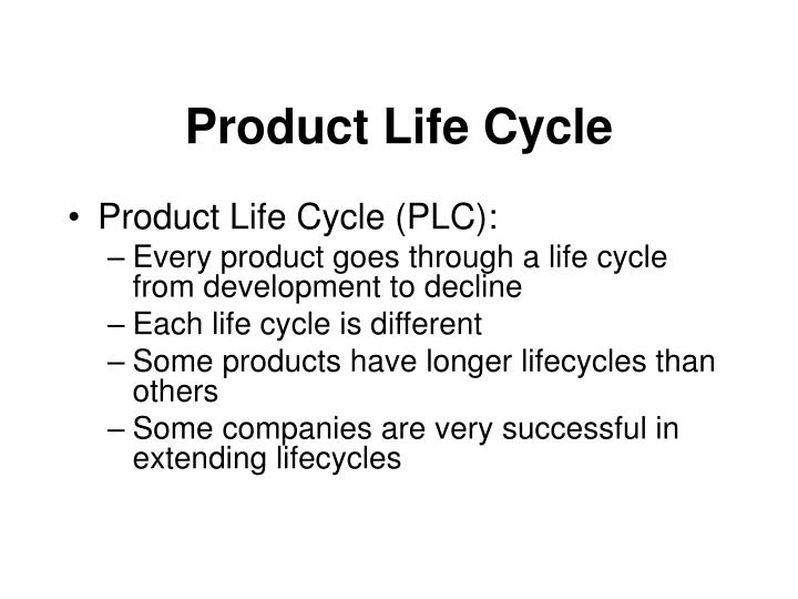 product life cycle n.