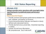 10 status reporting1