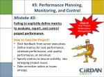 3 performance planning monitoring and control