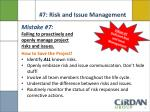 7 risk and issue management