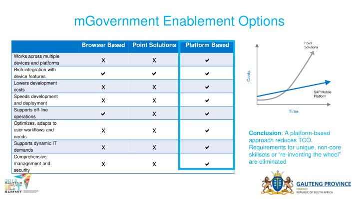 mGovernment Enablement Options