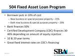 504 fixed asset loan program1