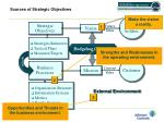 sources of strategic objectives