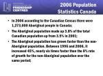 2006 population statistics canada