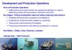 development and production operations