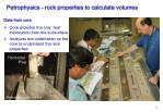 petrophysics rock properties to calculate volumes