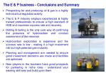 the e p business conclusions and summary