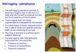 well logging petrophysics