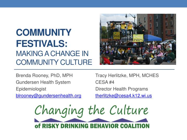community festivals making a change in community culture n.
