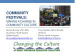 community festivals making a change in community culture