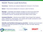 ngda theme lead activities