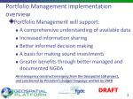 portfolio management implementation overview
