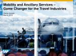 mobility and ancillary services game changer for the travel industries
