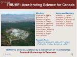 triumf accelerating science for canada