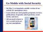 go mobile with social security
