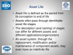 asset life