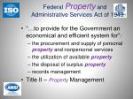 federal property and administrative services act of 1949