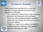 the need for standards1