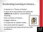 accelerating learning in literacy