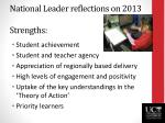 national leader reflections on 2013 strengths