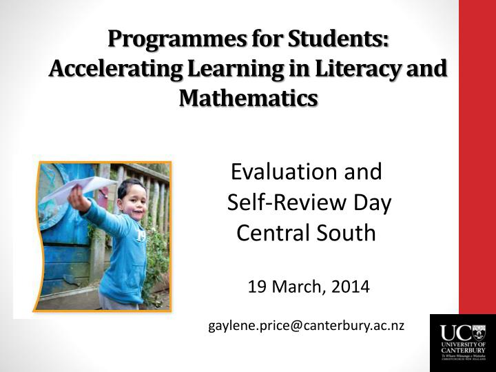 programmes for students accelerating learning in literacy and mathematics n.