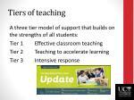 tiers of teaching