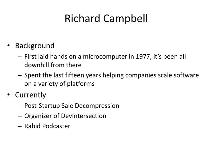 Richard campbell