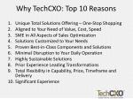 why techcxo top 10 reasons
