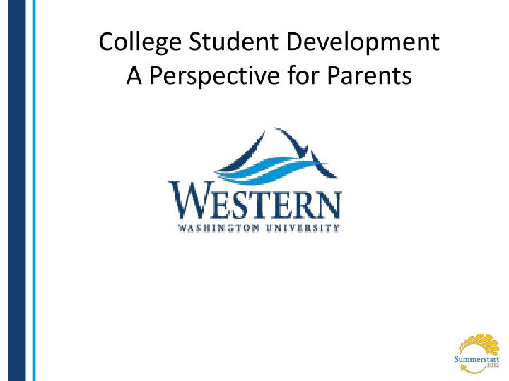college student development a perspective for parents n.