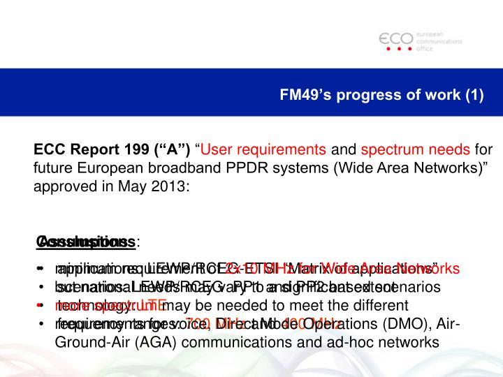 FM49's progress of work (1)
