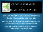 clinical research healthcare services
