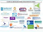clinical research organizations in india