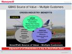 gbas source of value multiple customers