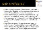 main beneficiaries