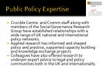 public policy expertise