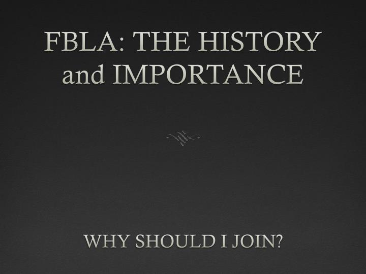 fbla the history and importance n.
